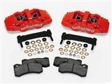 Wilwood 140-12629-R AERO6 Front Red Caliper and Bracket Upgrade Kit for 1997-2013 Corvette C5-C6 /
