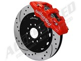 "Wilwood 140-13886-DR AERO6 Front Red 14"" Drilled+Slotted Big Brake Kit 2015-2017 Mustang /"