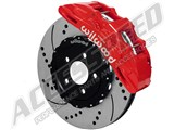 "Wilwood 140-14925-DR Speed Xtreme Front 15"" SX6R Big Brake Kit, Red Calipers Drilled 2015-up Mustang /"