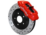 Wilwood 140-15175-DR SLC56 Front Red Replacement Caliper and Rotor Kit 1997-2013 Corvette C5/C6 /