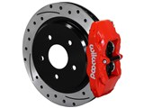 Wilwood 140-15176-DR DPC56 Rear Red Replacement Caliper and Rotor Kit 1997-2013 Corvette C5/C6 /
