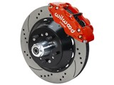 "Wilwood 140-15409-DR SL6R-DS Front 14"" Brake Hub Kit Red Drilled 1967-69 Camaro 64-72 Chevelle Nova /"