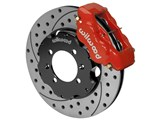 "Wilwood 140-15912-DR Forged Dynalite 11"" Front Big Brake Kit, Red, Drilled, Triumph TR6/TR4A/TR250 / Wilwood 140-15912-DR"