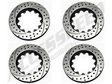 Wilwood SRP Drilled & Slotted Rotor Upgrade - 2 Pair - For Front & Rear Combo /