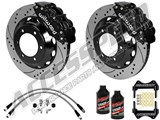 "Wilwood Superlite 6R 13"" Front & Dynapro 12"" Rear, Black, Drilled W/Lines & Fluid 1996-2000 BMW M3 /"