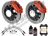 "Wilwood Superlite 6R 13"" Front & Dynapro 12"" Rear, Red, Drilled W/Lines & Fluid 1996-2000 BMW M3 /"