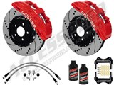 "Wilwood SX6R 15"" Front Big Brake Package, Red, Drilled, Brake Lines & Fluid 2005-2013 Corvette C6 /"