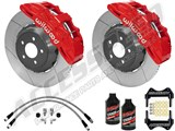 "Wilwood SX6R 14"" Front Big Brake Package, Red, Slotted, Brake Lines & Fluid 2005-2013 Corvette C6 /"