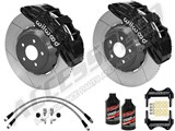 "Wilwood SX6R 14"" Front Big Brake Package, Black, Slotted, Brake Lines & Fluid 2005-2013 Corvette C6 /"
