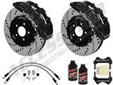 "Wilwood SX6R 14"" Front Big Brake Package, Black, Drilled, Brake Lines & Fluid 2005-2013 Corvette C6 /"