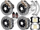 "Wilwood AERO6 15"" Front Big Brake Kit Nickel W/Slotted Rotors, Brake Lines, Fluid 2014-2017 Corvette /"