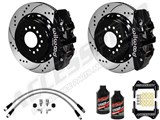 "Wilwood Rear 14"" AERO4 Big Brake Kit Drilled/Slotted Rotors & Brake Lines 2010-2019 Camaro /"