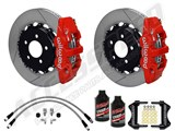 Wilwood Rear AERO4 Big Brake Kit, Red Calipers, Slotted Rotors & Brake Lines 2010-2019 Camaro /