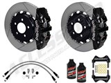 Wilwood Rear AERO4 Big Brake Kit Black, Slotted Rotors, Brake Lines & Fluid 2010-2019 Camaro /