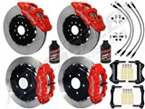 "Wilwood AERO6 15"" Front & FNSL4R Rear Brake Kit, Red, Slotted, Brake Lines Fluid 2016-2017 Camaro SS /"