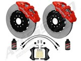 "Wilwood AERO6 14"" Front Brake Kit, Red, Slotted, Brake Lines & Fluid 2005-2011 Charger Challenger /"