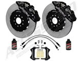 "Wilwood AERO6 14"" Front Brake Kit, Black, Slotted, Brake Lines & Fluid 2005-2011 Charger Challenger /"