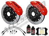 "Wilwood TX6R 15.5"" Front Big Brake Kit, Red, Slotted Rotors, Brake Lines & Fluid 2010-2014 Ford F150 /"