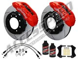 "Wilwood TX6R 16"" Front Brake Kit Red, Slotted, Brake Lines & Fluid 2005-2010 Ford F250/350 4WD /"