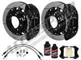 "Wilwood TX6R 15.5"" Rear Black Brake Kit Drilled, Brake Lines & Fluid 2005-2010 Ford F250/350 4WD /"