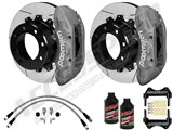 "Wilwood TX6R 15.5"" Rear Brake Kit Clear, Slotted, Brake Lines & Fluid 2005-2010 Ford F250/350 4WD /"