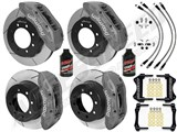 "Wilwood TX6R 16"" Front & 15.5"" Rear Clear Brake Kit Drilled Rotors & Brake Lines 2011-2012 F250/350 /"
