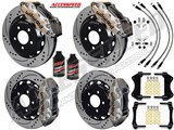 Wilwood AERO6 Front & AERO4 Rear Big Brake Kit Nickel, Drilled+Slotted, SS Lines 2008-09 Pontiac G8  /