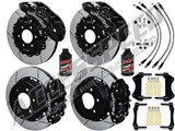 "Wilwood TC6R 16"" Front & Rear Big Brake Kit Combo, Black, Slotted, Brake Lines 2003-2009 Hummer H2 /"