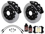 "Wilwood AERO6 Front 14.25"" Brakes Black, Slotted Rotors, Brake Lines, Fluid 2000-2006 GM 1500 Truck /"