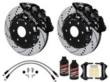 "Wilwood AERO6 Front 14.25"" Brake Kit W/Drilled Rotors, Brake Lines & Fluid 2000-2006 GM 1500 Truck /"