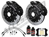 "Wilwood TX6R Front 16"" Brake Kit Black W/Slotted Rotors, Brake Lines & Fluid 2000-206 GM 1500 Truck /"