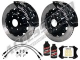 "Wilwood TC6R Front 16"" Brake Kit, Black, Slotted Rotors, Brake Lines & Fluid 2000-2006 GM 1500 Truck /"