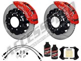 "Wilwood TC6R 16"" Front Brake Kit Red Slotted W/Brake Lines, Fluid 2000-2006 GM 2500/3500 Truck/SUV /"