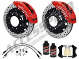 "Wilwood TC6R 16"" Front Brake Kit Red Drilled W/Brake Lines, Fluid 2000-2006 GM 2500/3500 Truck/SUV /"