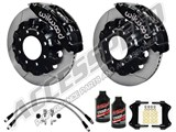 "Wilwood TC6R 16"" Front Big Brake Kit, Black, Slotted, Brake Lines 2007-2010 GM 2500/3500 Truck/SUV /"
