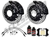 "Wilwood TC6R 16"" Front Big Brake Kit, Black, Drilled, Brake Lines 2007-2010 GM 2500/3500 Truck/SUV /"