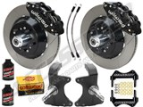 "Wilwood SL6R Front 13"" Big Brake Kit & 2"" Drop Spindle Combo, Black Slotted, 1964-1974 GM A/F/X Body /"