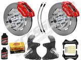 "Wilwood Dynapro Front 12"" Big Brake Kit & 2"" Drop Spindle Combo, Red, 1964-1974 GM A/F/X Body /"