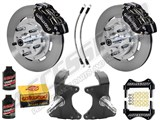 "Wilwood Dynapro Front 12"" Big Brake Kit & 2"" Drop Spindle Combo, Black, 1964-1974 GM A/F/X Body /"