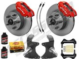 "Wilwood Dynalite Front 11"" Big Brake Kit & 2"" Drop Spindle Combo, Red, 1964-1974 GM A/F/X Body /"