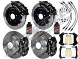 "Wilwood FNSL6 Front 14"" & DPR Rear Big Brake Kit, Black, Slotted & Brake Lines 2004-2006 Pontiac GTO /"