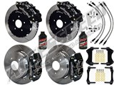 "Wilwood FNSL6-DS Front 14"" & DPR Rear Big Brake Kit, Black, Slotted & Brake Lines 2004-2006 GTO /"