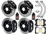 "Wilwood SL6R Front & SL4R Rear 13"" Brake Kit, Black, Slotted W/Lines & Fluid 2007-2015 Wrangler JK /"