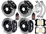 "Wilwood SL6R 14"" Front & SL4R 13"" Rear Brake Kit Slotted Rotors Brake Lines 2007-2015 Wrangler JK /"