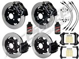 "Wilwood 12"" Dynapro Front & CPB Rear Brake Kit, Black, W/Lines & Fluid 2002-2015 Mini Cooper 4-Lug /"