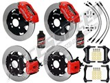 "Wilwood 12"" Dynapro Front & CPB Rear Brake Kit, Red, W/Lines & Fluid 2002-2015 Mini Cooper 4-Lug /"