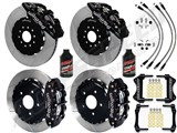 "Wilwood AERO6 Front 14"" Big Brake Kit, Black, Drilled+Slotted Rotors & Brake Lines 2005-2014 Mustang /"