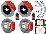 "Wilwood Forged SL6R 14"" Front Big Brake Kit, Red, Drilled, Brake Lines, Fluid 2005-2014 Mustang /"