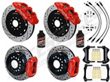 "Wilwood Forged SL6R 14"" Front Big Brake Kit, Red, Slotted, Brake Lines, Fluid 2005-2014 Mustang /"