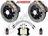 "Wilwood AERO6 15"" Front Big Brake Kit, Nickel, Drilled, Brake Lines, Fluid 2015-2017 Ford Mustang /"
